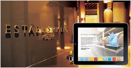 Hotel iPad App Roomi at Establishment